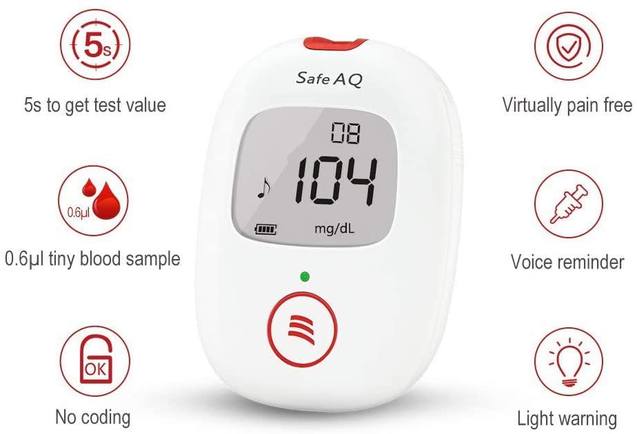 Glucómetro Sinocare Safe AQ Voice