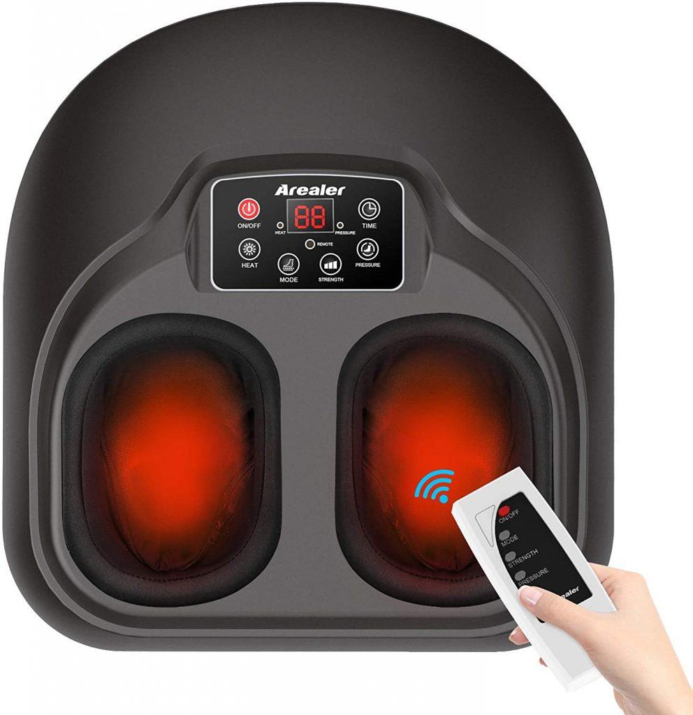 masajeador de pies con control remoto